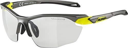 Alpina Unisex- Erwachsene Twist Five HR VL+ Sportbrille, tin matt-neon Yellow, one Size