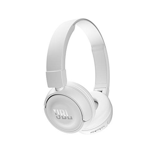 JBL JBLT450BTWHT Kabelloser On-Ear Bluetooth Kopfhörer mit Integrierter Musiksteuerung und Mikrofon Kompatibel mit Apple und Android Geräten - Weiß (Bluetooth Kopfhörer Für Android)