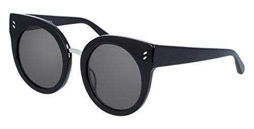 Stella mccartney sc0036s 001, occhiali da sole unisex-adulto, nero (001-black/smoke), 51