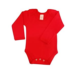 BabywearUK – Mono de manga larga para bebé rojo rojo Talla:recién nacido