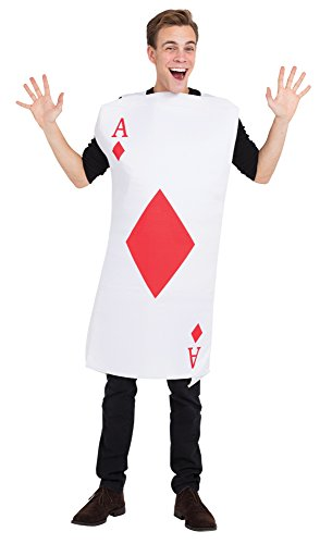 Bristol Novelty af019 Ace of Diamonds Kostüm One (Kostüme Vegas Halloween Für)