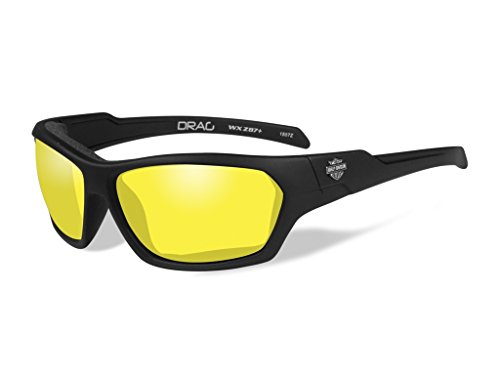 Harley-Davidson Wiley X Drag Yellow Motorrad Brille