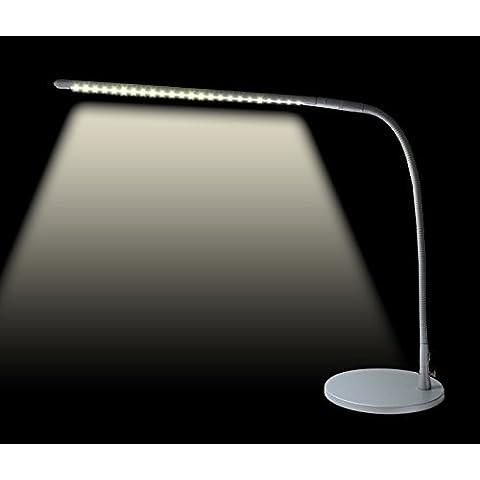 Lampada 24 LED Flessibile Scrivania Salotto 16x33 cm Collo Flessibile