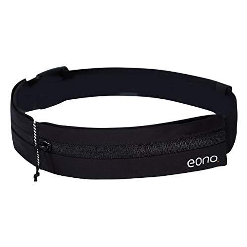 Eono by Amazon - Wasserabweisende Lauf Hüfttasche mit verstellbarem Gummiband, Laufgürtel mit großer Kapazität für Training im Fitnessstudio, Sport, Radfahren, Laufen, Reisen und Outdoor-Aktivitäten