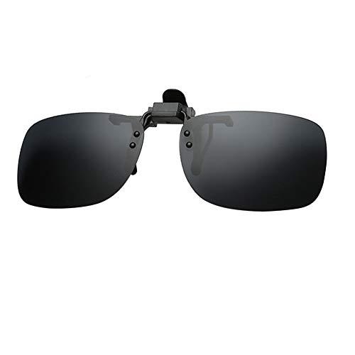 Amorar Sonnenbrille Clip Polarisierte Sonnenbrille Flip up UV-Schutz Sonnenbrille Aufsatz Nachtsichtlinse Klapp-Sonnenbrille für Unisex Brillenträger im Freien/Fahren/Angeln