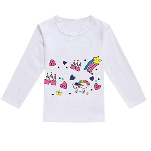 JUTOO Kleinkind Baby Kinder Jungen Mädchen Frühling Niedlichen Cartoon Print Tops T-Shirt Lässige Kleidung (HotPink,100)