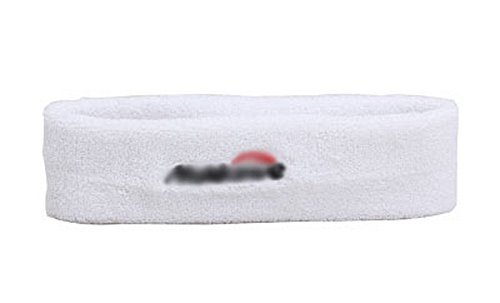 Baumwollsport Kopfschutz - Schweißband - Stirnband Sports Schal - Weiß