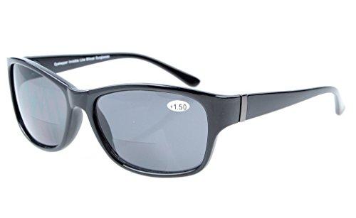 Eyekepper Sonne Leser polarisierte Bifokale Sonnenbrillen Schwarz +3.0