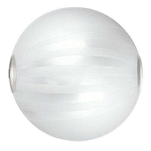 Plafoniera kuna satinata con decori bianco Cm D 30 Lampada 2xE27 da 60W