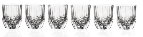 RCR Crystal Adagio Collection Double old Fashioned Glass Set by Lorenzo -