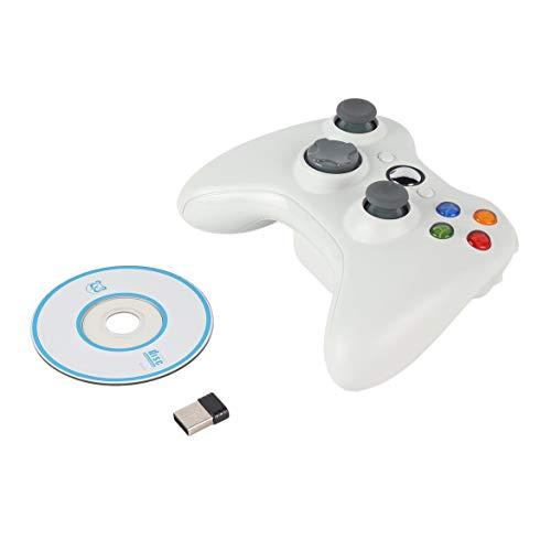 Bluetooth Gamepad 2.4G Wireless joystick Maniglia controller di gioco PC multimediale gioco Joypad per Android (bianco)