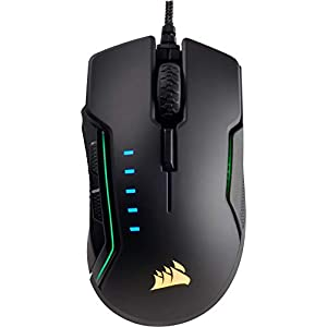 Corsair Gaming CH-9302011-EU Glaive RGB Multi-Colour Backlit Performance 16000 DPI Optical Gaming Mouse - Black
