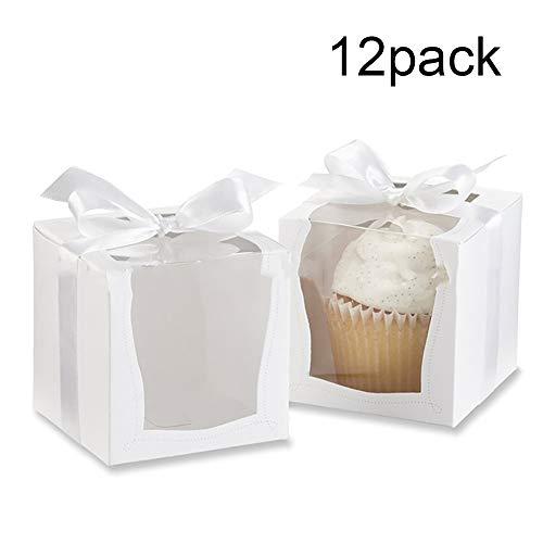 kitchen dream Scatole Torta Cartone Bianco Blocco Angolo Finestra panetteria contenitori Torta USA e Getta scatole da Dessert per Torta Caramella