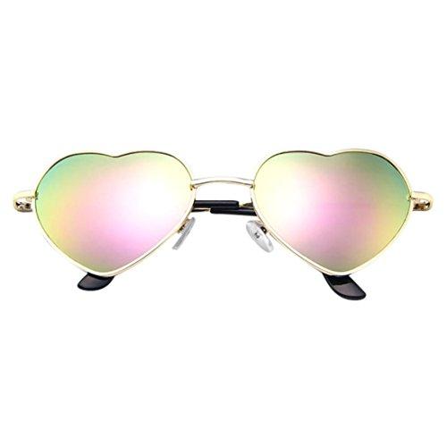 OYSOHE Heiß Neueste Mens Damen Metallrahmen Damen Herzform Sonnenbrille Lolita Love