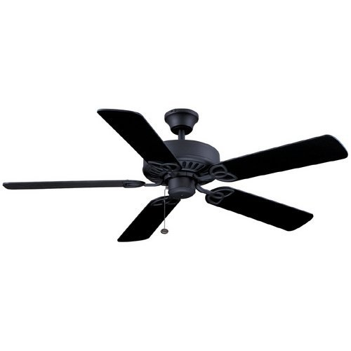 Harbor Breeze 52 Classic Style Matte Black Ceiling Fan, Reversible Blades Black (Energy Star) by Harbor Breeze (Star Harbor)