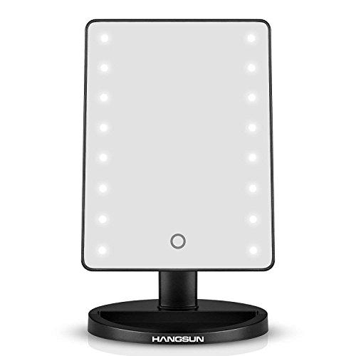 Hangsun LED Lumineux Miroir Cosmétique B90 Maquillage Éclairé Lumineux Aveclampes - 180 Degrés Rotation