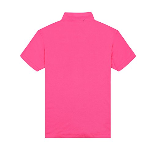 Herren Mens Polo Shirts Casual Short Sleeve T Shirts For Men Solid Slim Polo Shirts Turn-Down Collar Mens Polos Rosa