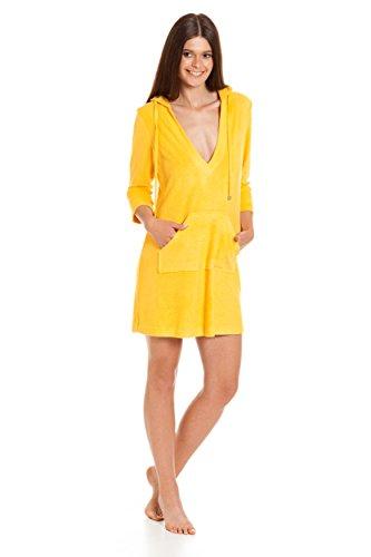 """Abito di spiaggia delle donne / vestito da estate con il cappuccio / fibra di bambù / estate 2017 """"RE-619"""" Giallo"""