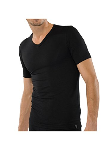 Preisvergleich Produktbild SCHIESSER Herren V-Neck T-Shirt 95 / 5 2er Pack,  Farbe:Schwarz (000);Größe:10 / 4XL