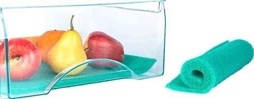 Gel de sílice de grado de alimentos fresh-keeper y organizador estantes de almacenamiento de alimentos frigorífico Mat la prolongación de la vida de producir 18.5 x 11.8 pulgadas (verde)