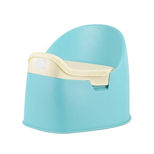 LUOER Toilettensitz für Töpfchen, Abnehmbarer, Rutschfester Toilettensitz für Töpfchen, mit Rückenlehne, spritzwassergeschütztes Design, für Kinder von 0 bis 7 Jahren,Blue -