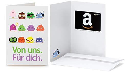 Amazon.de Geschenkkarte in Grußkarte (Vögel)