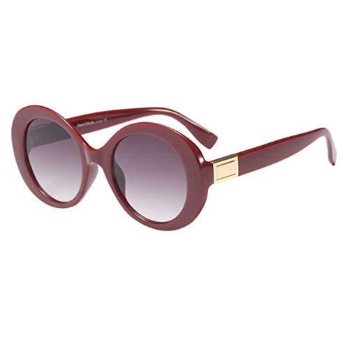 Dorical Unisex Sonnenbrille/Damen Herren Mode Große Rahmenellipse klassische Aviator Vintage Brille PC gestell Brillenfassung Hochwertige Sport Glasses Valentinstag Brille für Männer Frauen