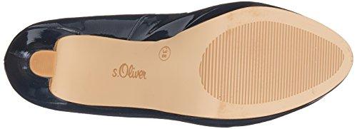 s.Oliver 22410, Scarpe con Tacco Donna Blu (Navy Patent)