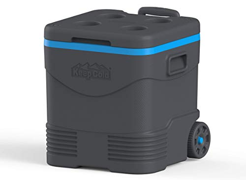 Duramax Trolley Ice Box 45L Eisbox, Anthracite and Blue
