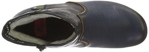 Rieker Damen Y7273 Kurzschaft Stiefel Blau (Navy/Muskat/Schwarz/Leaf/wine / 14)