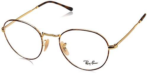 Ray-Ban Unisex-Erwachsene 0RX 3582V 2945 49 Brillengestelle, (Gold On Topo Havana)