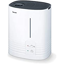 Beurer LB 55 Humidificateur d'air avec technologie d'évaporation à eau chaude, hygiénique, pour des pièces jusqu'à 50 m²