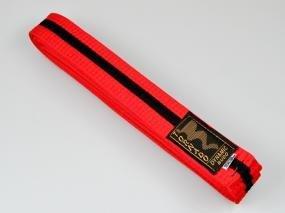 Cintura per Judo rosso-nera, 300 cm