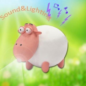 Bysun Sound Kleine süße Schaf LED Schlüsselanhänger Anhänger 3* AG10