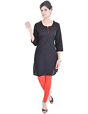 Exclusivo indio étnico Pure–Plain algodón Kurti Casual Wear Kurta