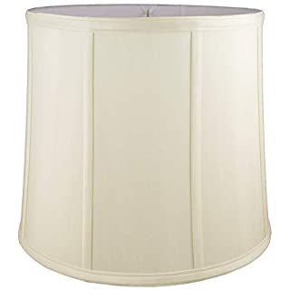 American Pride Lampshade Co. 05-78090506 Round Soft Tailored Lampshade, Shantung, Eggshell