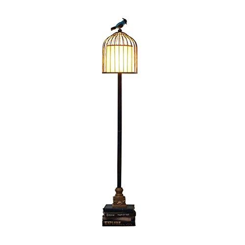 Vintage Birdcage Wohnzimmer Stehlampe, Studie Öl Papier Lampe Schatten Stock Leselampe, Sofa