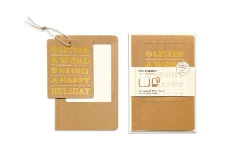 Moleskine-Pack 10ex Karten Ornament GD Format Happy Holiday