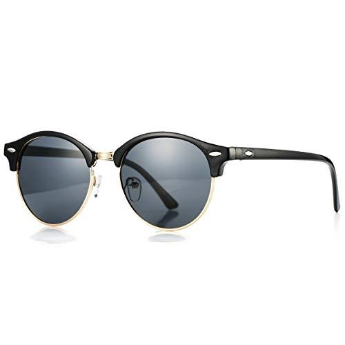 Pro Acme Damen Sonnenbrille mit polarisiertem Objektiv Retro Halbrand Sonnenbrillen Mittel Runden