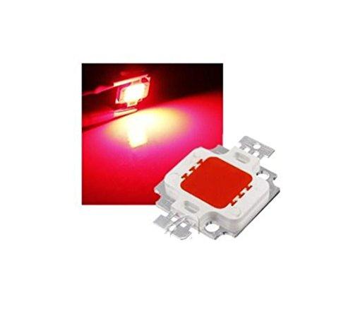 CHIP LED 10W - Roter Strahler mit hoher Leuchtkraft 800-900 Lumen, Ersatz für roten SMD-Strahler 900 Notebook