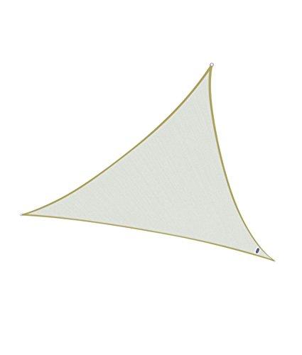Cool Area 4x4x4m Dreieck Sonnensegel Sonnenschutz Segel, UV Schutz PES wasserabweisend für Balkon Terrasse Garten, Cremeweiß (Cool-shop Zu)