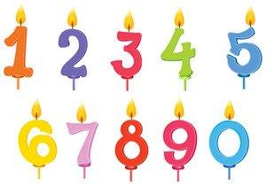25. Hochzeit Jahrestag Kuchen Kerzen x20Dekorationen Nummer Zahlen multi farbigen Cake Topper Teil Zubehör Party Feier Food Zubehör (Multi Farbige Kerzen)