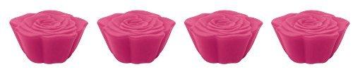 Zak Designs 0896-520 Jacks Rose Boite de 4 Dessous de Plats Modulables Rose Fuchsia