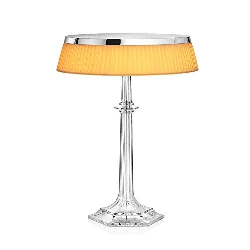 Flos Bon Jour Versailles Lampe de table avec structure chrome et abat-jour tissu
