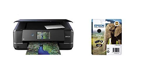 Epson Expression Photo XP-960 3-in-1 Tintenstrahl-Multifunktionsgerät Drucker (Scanner, Kopierer, WiFi, Ethernet, Duplex, 10,9 cm Touchscreen, Einzelpatronen, 6 Farben, DIN A3) schwarz