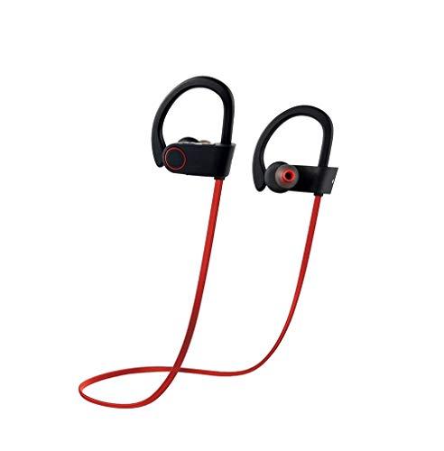 Neck-stereo-bluetooth - (Bluetooth Neck Waterproof Earphone, Wireless In-Ear Sweatproof Earbuds mit Mikrofon-Telefon-Calls für Running Übung Sport Gym verwendet,Red)