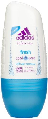 adidas Fresh Cool & Care Deo Roller für Damen - Antitranspirant Deo Roll-on sorgt für 48h kühlende Erfrischung - pH-hautfreundlich - 3er Pack (3 x 50 ml) - Adidas Deo-antitranspirant
