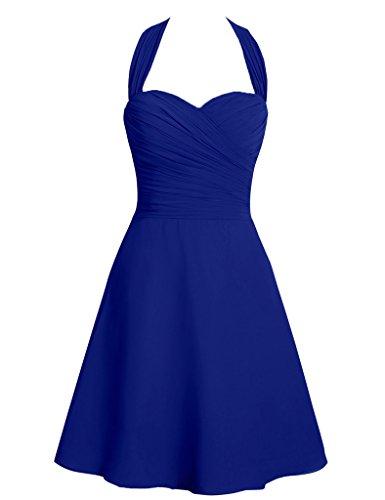 HUINI Damen Kleid Königsblau