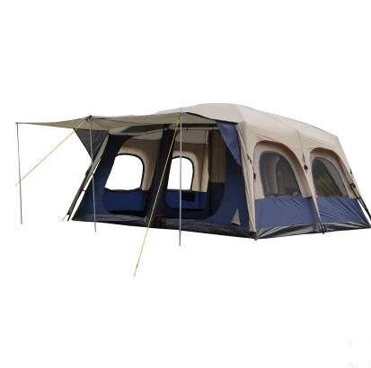 rainstorms   6-12 people camping two bedrooms and one living room   multi-person double tents   outdoor camping