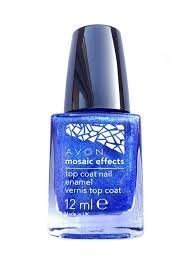 Mosaic Effects Top Coat Nail Enamel x 12ml - Blue Flash
